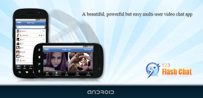 Android App, Mobile Apps, 123 Flash Chat Software