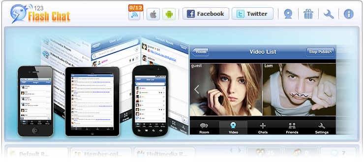 HTML Chat Client Supports PCs & Mobile Simultaneously