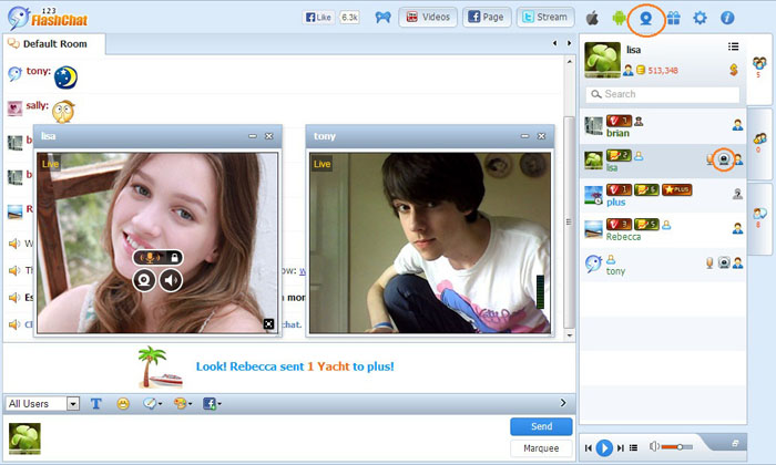Public Video Chat of 123FlashChat, Video Chat, Flash Chat, Chat Software, PHP Chat