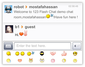 Neat UI of Flash Chat iPhone App iPad App Android App