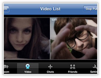 webcam video chatting